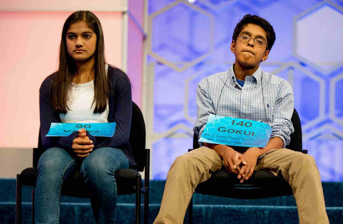 Vanya Shivashankar and Gokul Venkatachalam are co-champions of National spelling bee championship 2015