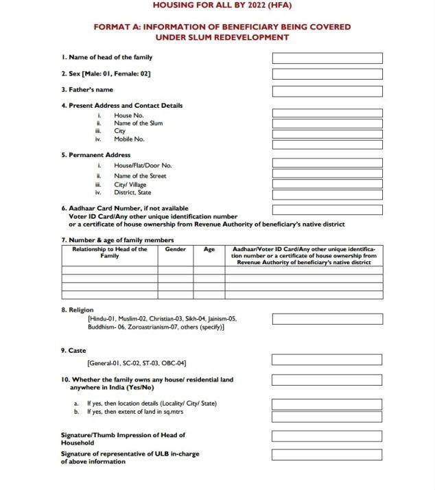HFA 2022 form