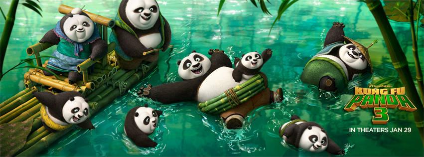 Kung Fu Panda 3 movie wallpaper for facebook cover