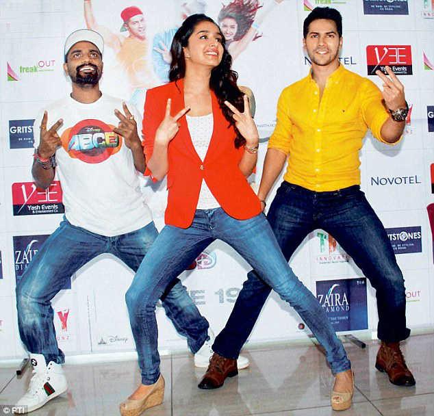 Remo D'Souza, Shraddha Kapoor and Varun Dhawan ABCD 2