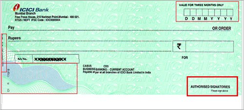 ICICI-cheque