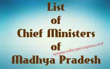 List of Chief Ministers of Madhya Pradesh 1956 - 2015