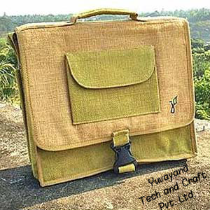Jute laptop bag for students