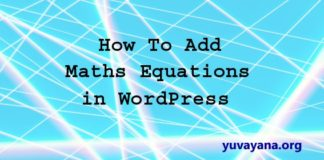 how to add maths equation in wordpress