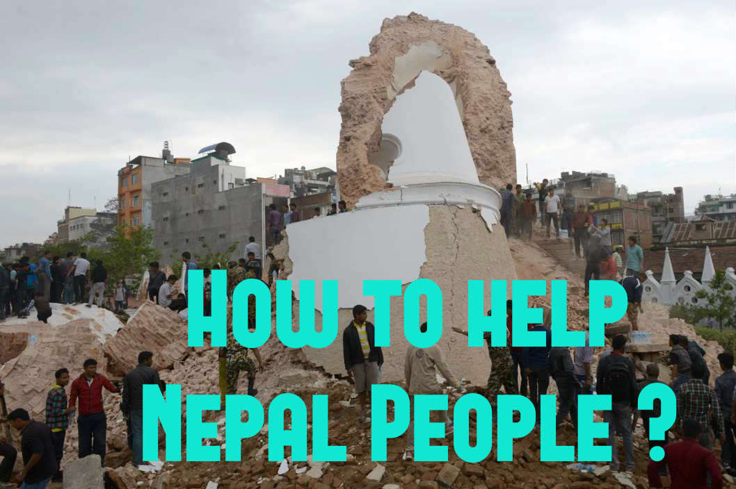 how to help nepal people