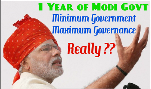 Analysis of 1 year functioning of Modi government on the front of 'Governance'