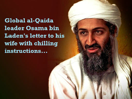 Osama bin Laden letter for his wife