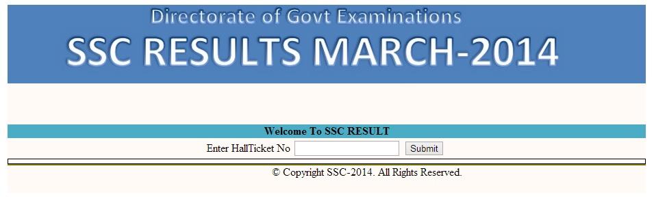 Telangana SSC Result 2015
