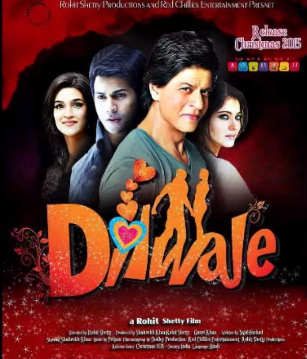 Dilwale 2015 Movie Poster wallpaper