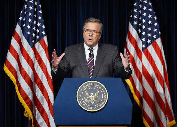 Jeb Bush in a political campaign