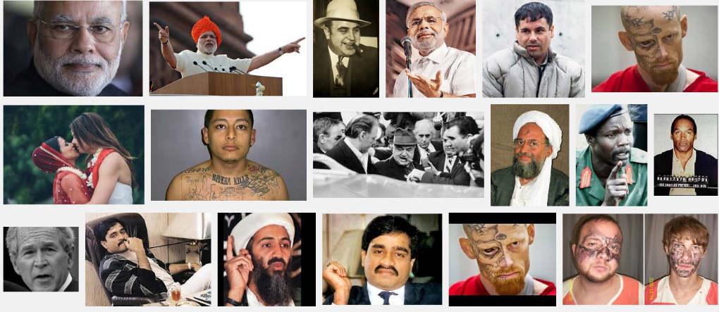 Modi is in top 10 criminals on Google