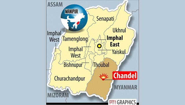 graphic at militants attacked soldiers in Manipur