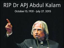 RIP Dr APJ Abdul Kalam