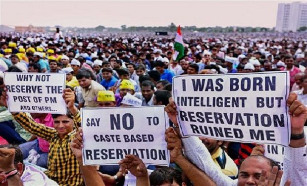 say no to caste based reservation
