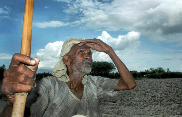 farmer waiting for rain
