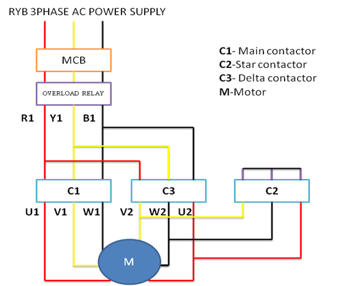 Star Delta Connection Diagram 3 Phase Motor - DIY Enthusiasts Wiring ...