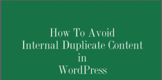 internal duplicate content in wordpress