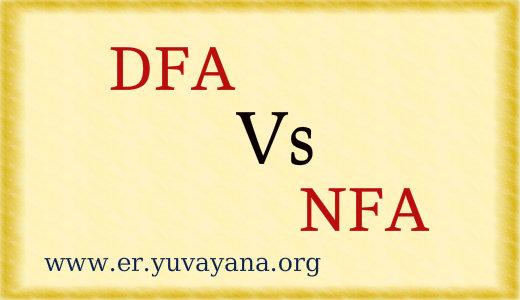 DFA Vs NFA automata