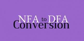 Nondeterministic Finite Automata to deterministic Finite Automata conversion