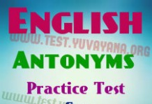 English Antonyms mcq Practice test -1