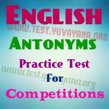 English Antonyms mcq Practice test -1