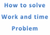 how to solve work-and-time