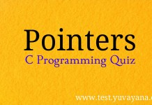 Pointers in C Programming Quiz Question answers