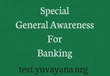 Special general awareness test for banking exams