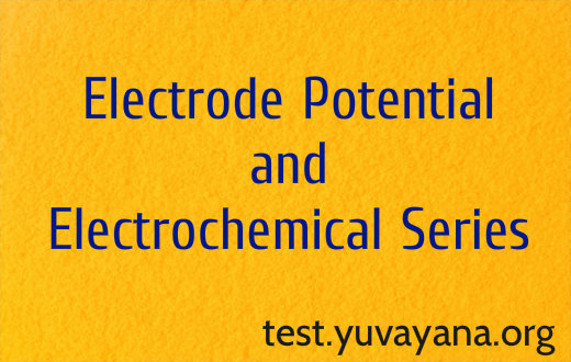Electrode potential and electrochemical series mcq test
