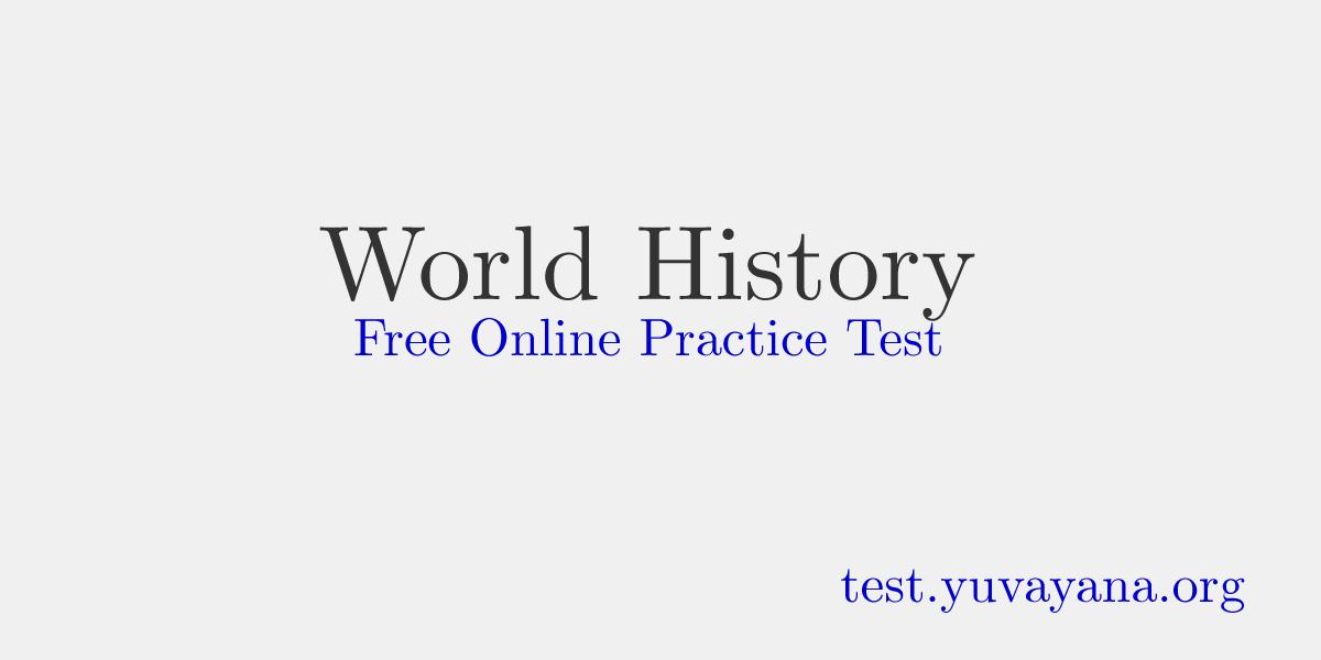 World History English mcq : History Quiz
