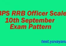 IBPS RRB Exam Pattern 10 September