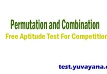 Permutation and combination aptitude test