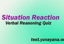 Situation Reaction Question Answer Verbal Reasoning Test-min