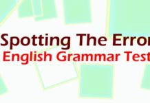 Spotting the error english grammar test