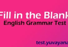 fill in the blanks english grammar exercise