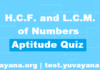 Free Aptitude Quiz | H.C.F. and L.C.M. of Number Aptitude Quiz