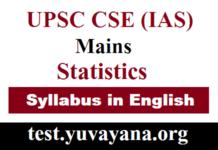 IAS Statistics Syllabu