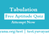 Free Aptitude Quiz: Tabulation, Tabulation Aptitude Quiz