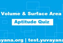 Free Aptitude Quiz | Volume and Surface Area Aptitude Quiz