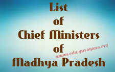 List of Chief Ministers of Madhya Pradesh 1956 - 2015