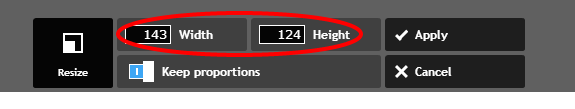Select Width and Hight