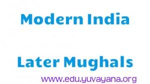Modern India Later Mughals