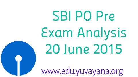 SBI PO Pre exam analysis of 20 june evening shift
