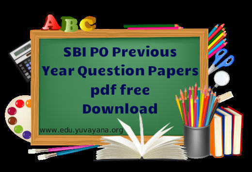 sbi po previous year question paper pdf free download