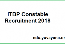 ITBP Constable (Animal Transport) Application Form 2018