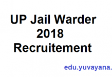 UP Jail Warder 2018 recruitment details eligibility criteria